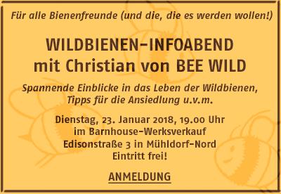 Bericht über den Wildbienen-Infoabend von Bee Wild bei Barnhouse MÜ